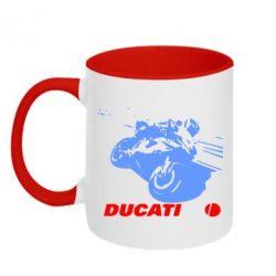 Кружка двухцветная Dukati - FatLine