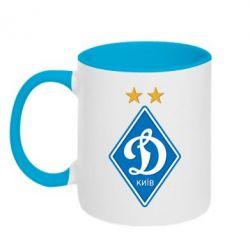 Кружка двухцветная Dynamo Kiev - FatLine
