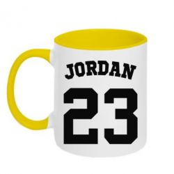 Кружка двухцветная Джордан 23 - FatLine