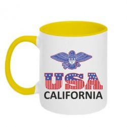 Кружка двухцветная Eagle USA - FatLine
