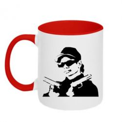 Кружка двухцветная Eazy-E Gunz - FatLine