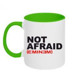 Кружка двухцветная Eminem Not Afraid - FatLine