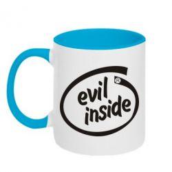 Кружка двухцветная Evil Inside - FatLine