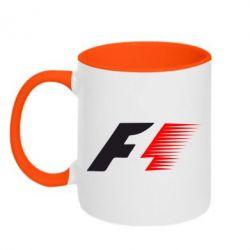Кружка двухцветная F1 - FatLine