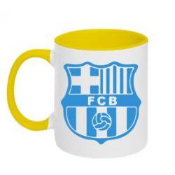 Кружка двухцветная FC Barcelona - FatLine