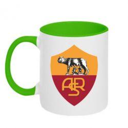 Кружка двухцветная FC Roma - FatLine