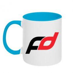 Кружка двухцветная FD - FatLine