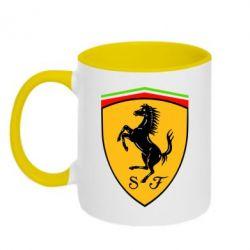 Кружка двухцветная Ferrari - FatLine