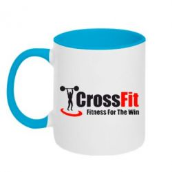 Кружка двухцветная Fitness For The Win Crossfit - FatLine