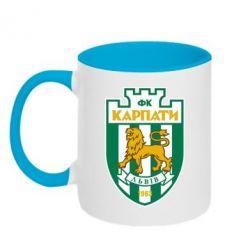 Кружка двухцветная ФК Карпаты Львов - FatLine