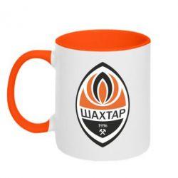 Кружка двухцветная ФК Шахтер - FatLine