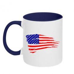 Кружка двухцветная Флаг США - FatLine