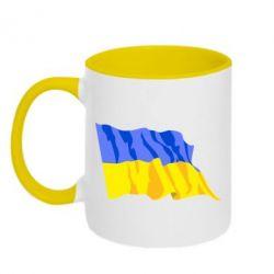Кружка двухцветная Флаг - FatLine