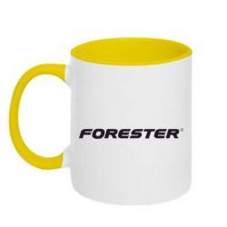 Кружка двухцветная FORESTER - FatLine