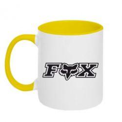 Кружка двухцветная Fox Moto - FatLine