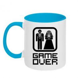Кружка двухцветная Game Over - FatLine