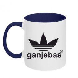 Кружка двухцветная Ganjubas - FatLine