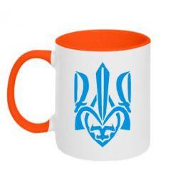 Кружка двухцветная Гарний герб України - FatLine