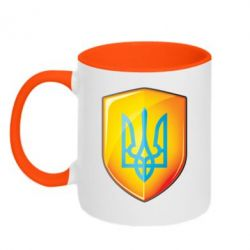 Кружка двухцветная Герб на щиті - FatLine