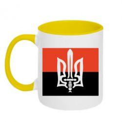 Кружка двухцветная Герб Правого Сектору - FatLine