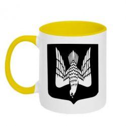 Кружка двухцветная Герб України сокіл - FatLine