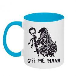 Кружка двухцветная Giff Me Mana - FatLine