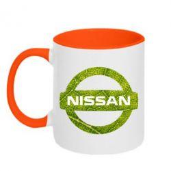 Кружка двоколірна 320ml Green Line Nissan
