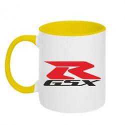 Кружка двоколірна 320ml GSX-R