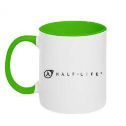Кружка двухцветная Half-Life 2 - FatLine