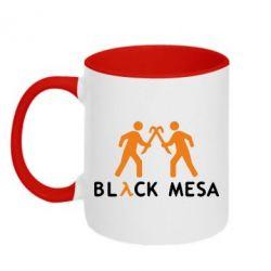 Кружка двухцветная Half Life Black Mesa - FatLine