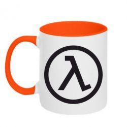 Кружка двухцветная Half Life Logo - FatLine