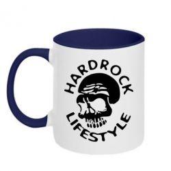 Кружка двухцветная Hardrock lifestyle - FatLine