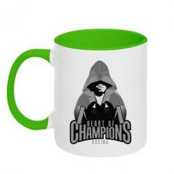 Кружка двухцветная Heart of Champions - FatLine