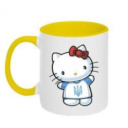 Кружка двухцветная Hello Kitty UA - FatLine