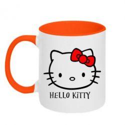 Кружка двухцветная Hello Kitty - FatLine
