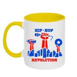 Кружка двухцветная Hip-hop revolution - FatLine