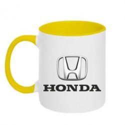 Кружка двухцветная Honda 3D Logo - FatLine