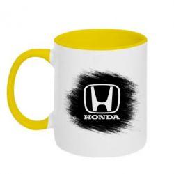 Кружка двухцветная Хонда арт, Honda art