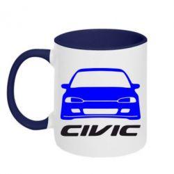 Кружка двухцветная Honda Civic - FatLine