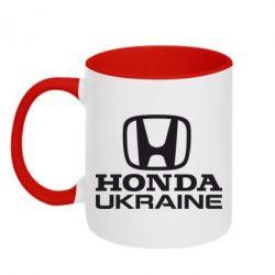 Кружка двухцветная Honda Ukraine - FatLine