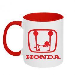 Кружка двухцветная Honda - FatLine