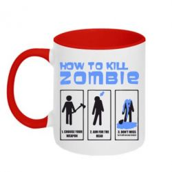 Кружка двоколірна 320ml How to kill zombie