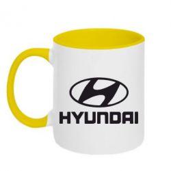 Кружка двухцветная Hyundai Small - FatLine
