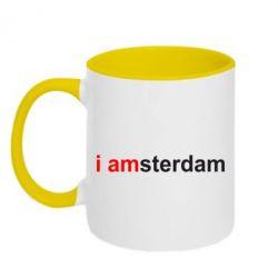 Кружка двухцветная I amsterdam - FatLine