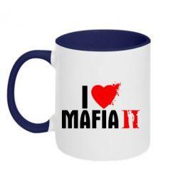 Кружка двухцветная I love Mafia 2 - FatLine