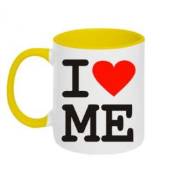 Кружка двухцветная I love ME - FatLine