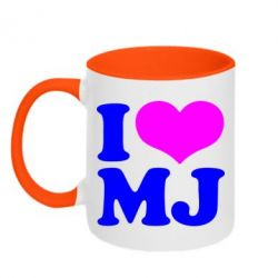 Кружка двухцветная I love MJ - FatLine