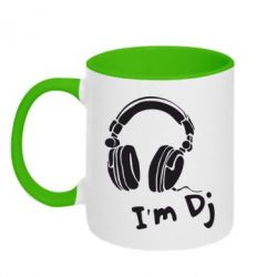 Кружка двухцветная I'm DJ - FatLine