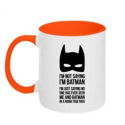 Кружка двухцветная I'm not saying i'm batman - FatLine