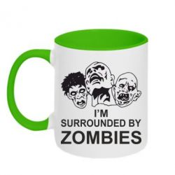 Кружка двухцветная 320ml I'm surrounded by zombies